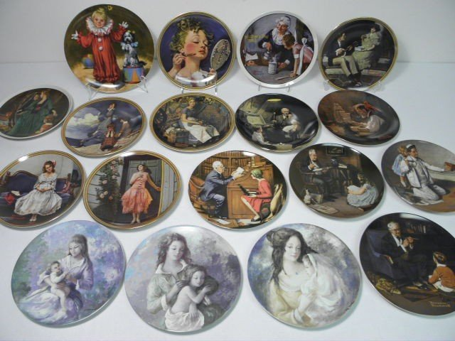 16: ASSORTED PORCELAIN COLLECTIBLE PLATES: NORMAN ROCKW
