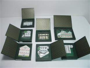 SEVEN SHELIA'S COLLECTABLE WOOD HOUSES
