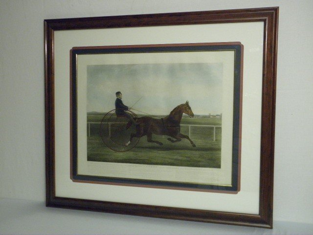 """80: 19TH C AMERICAN ENGRAVING: THE TROTTER """"JACKEY"""""""