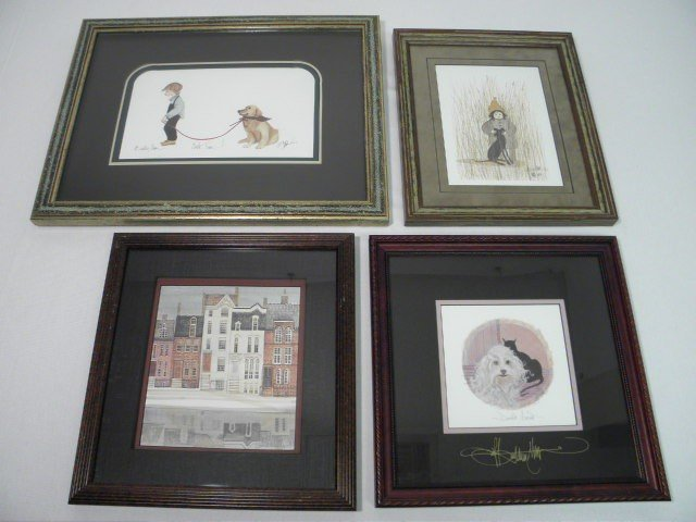 86: FOUR LIMITED EDITION P. BUCKLEY MOSS SIGNED PRINTS