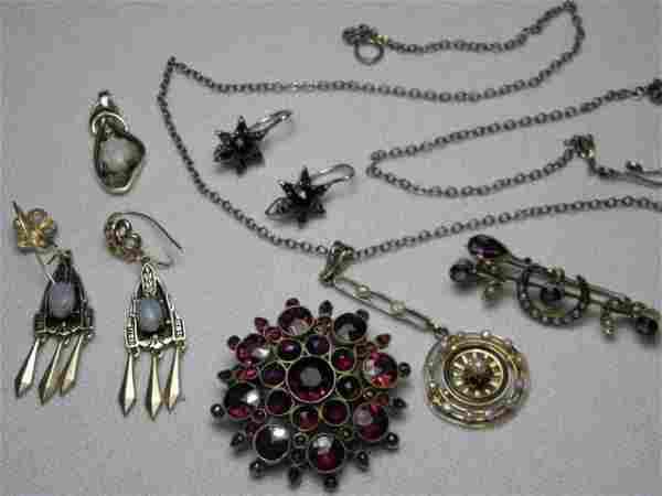 VINTAGE JEWELRY AND LOOSE DIAMONDS: 14K GOLD ETC