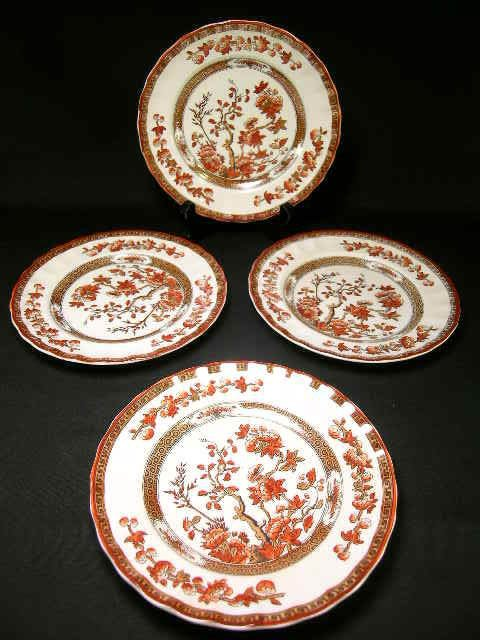 "801: COPELAND SPODE INDIAN TREE 6 1/2""  PLATES 4 PCS"