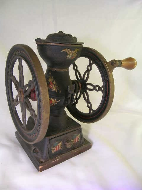 809: ANTIQUE JOHN CHATILLON SONS NY COFFEE GRINDER