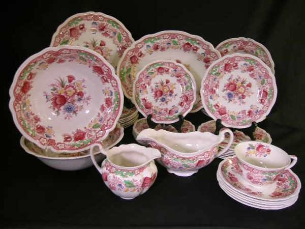1124: JOHNSON BROS ENGLAND DORCHESTER DINNERWARE 39 PCS