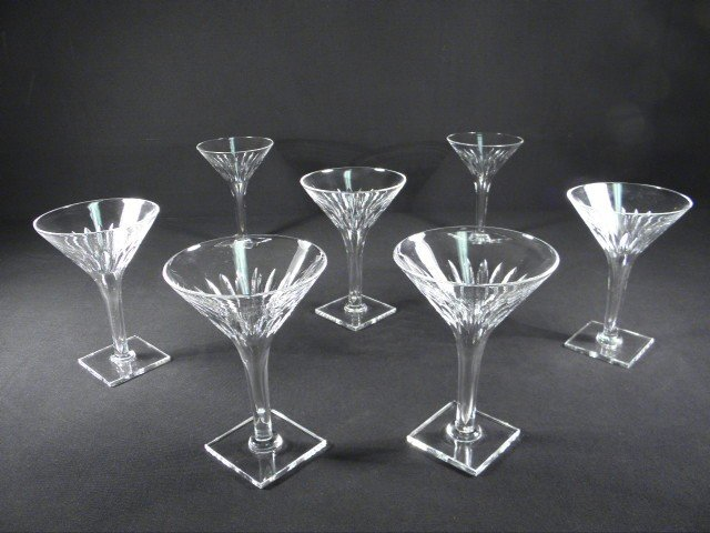 8: SEVEN HAWKES CONTEMPORARY CUT CRYSTAL STEMS