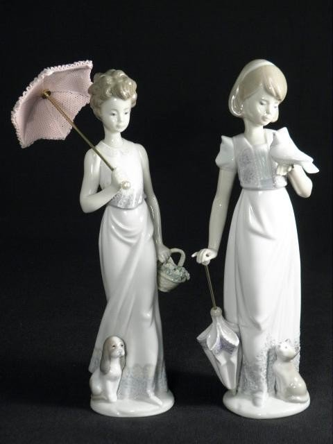 24: TWO LLADRO PORCELAIN FIGURINES: #7611 & #7617