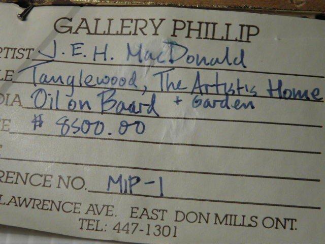 288: J.E.H. MACDONALD (CANADIAN, 1873-1932) OIL ON BOAR - 8