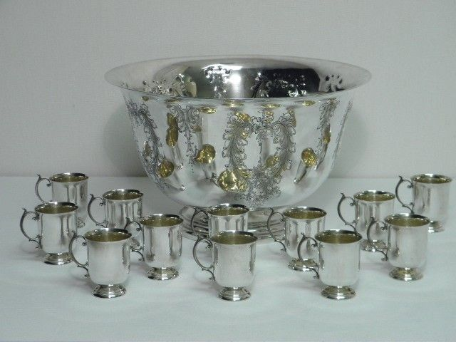 MANCHESTER SILVER CO. STERLING SILVER PUNCH BOWL S