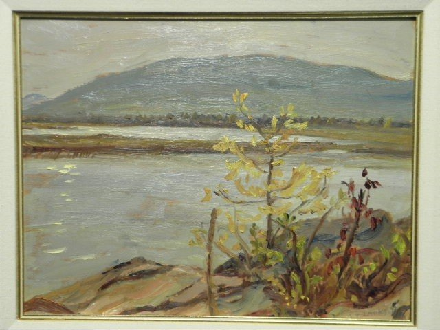 369: A.Y. JACKSON (CANADIAN, 1882-1974) OIL ON BOARD PA - 2