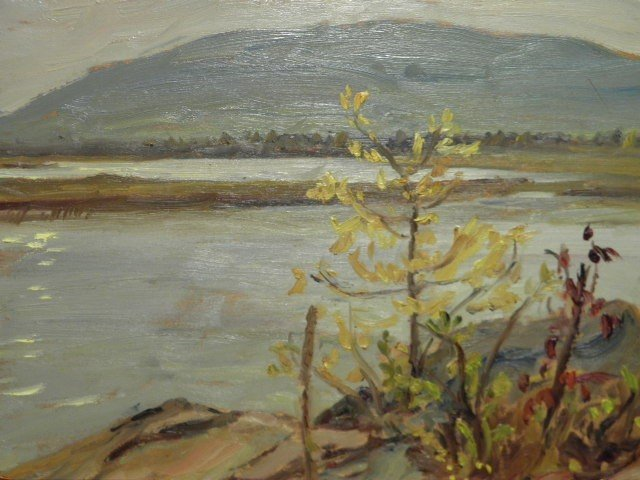 369: A.Y. JACKSON (CANADIAN, 1882-1974) OIL ON BOARD PA - 3