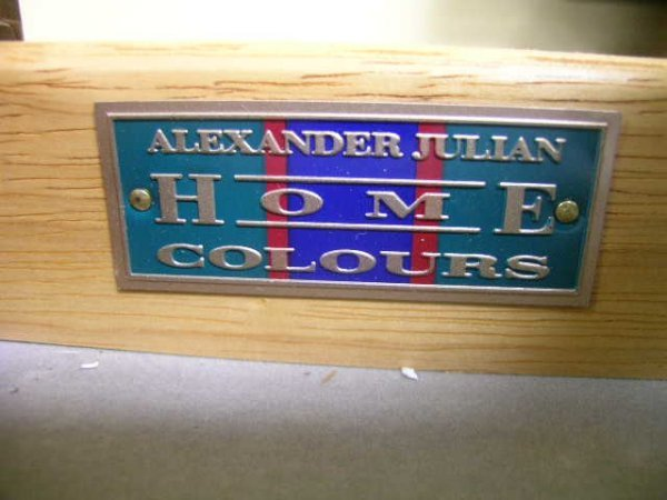 1289: ALEXANDER JULIAN HOME COLOURS WOOD GAME TABLE - 10
