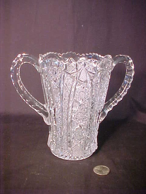 410: DEPRESSION GLASS LOVING CUP