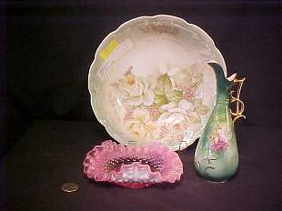 BAVARIAN BOWL CRANBERRY GLASS BOWL EWER