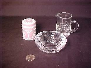 WEDGWOOD LAVENDER JAR WATERFORD CRYSTAL
