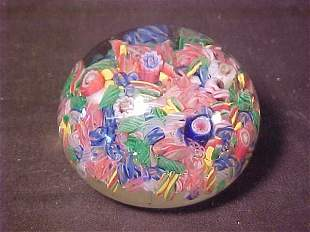 MILLIFIORE ART GLASS PAPERWEIGHT OLD