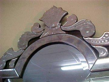 690: LG ANTIQUE VENETIAN GLASS MIRROR #1