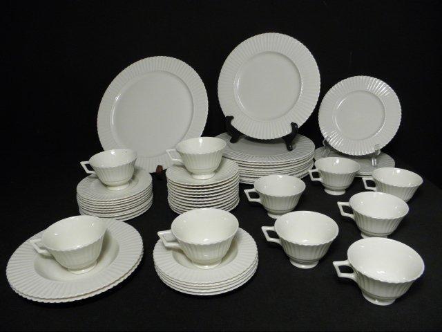 "105: LENOX ""TEMPLE OFF-WHITE"" PARTIAL DINNERWARE SERVIC"