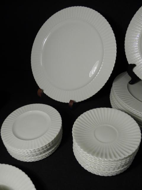 "105: LENOX ""TEMPLE OFF-WHITE"" PARTIAL DINNERWARE SERVIC - 4"