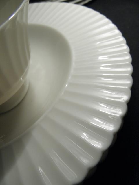 "105: LENOX ""TEMPLE OFF-WHITE"" PARTIAL DINNERWARE SERVIC - 6"