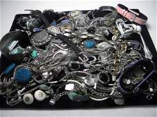 296 TRAY LOT ASSORTED LADIES COSTUME JEWELRY STERLING