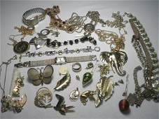 402 TRAY LOT ASSORTED LADIES COSTUME JEWELRY 14K GOLD