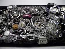 433 ASSORTED LADIES COSTUME JEWELRY STERLING JORGE