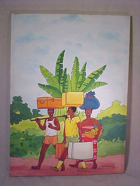 11A: AFRICAN OIL ON CANVAS PAINTING