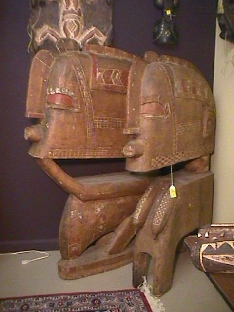 19: MASSIVE AFRICAN MALE FEMALE SCULPTURES -