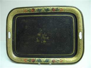 """EARLY 19TH CENTURY TOLEWARE 24"""" TRAY"""
