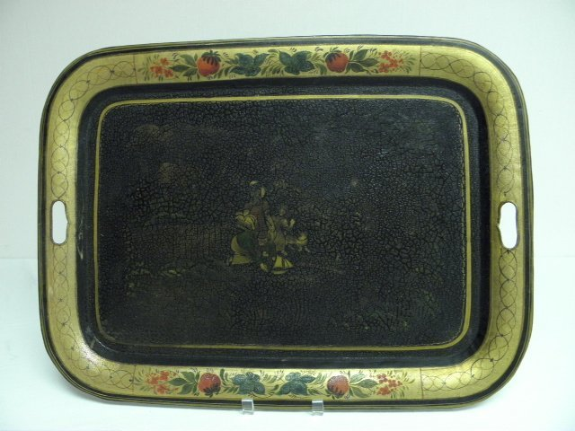 """2: EARLY 19TH CENTURY TOLEWARE 24"""" TRAY"""