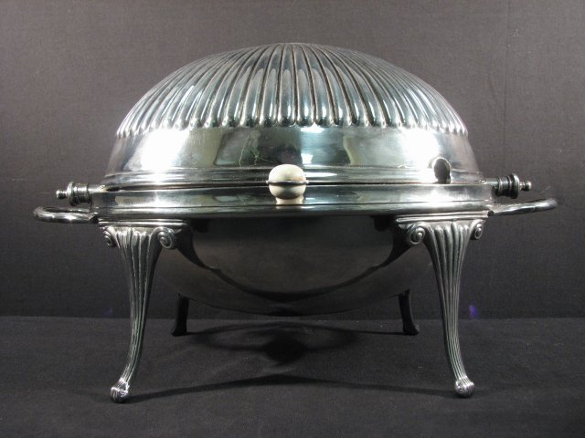 11: SILVER PLATED ROLLOVER SERVER