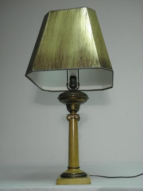 19: MUSTARD YELLOW TOLE PAINTED TABLE LAMP