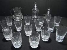 107 ASSORTED CUT CRYSTAL  GLASS TUMBLERS ETC 17 PC