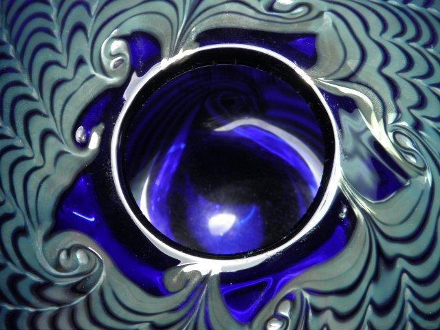 301: BRUCE FREUND PULLED COBALT ART GLASS VASE - 4