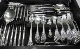 403: WALLACE STERLING SILVER FLATWARE SERVICE FOR TWELV
