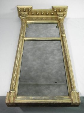 FEDERAL STYLE GILTWOOD TABERNACLE MIRROR