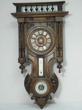 19th C VIENNA WALL CLOCK