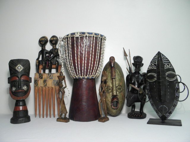 COLLECTION ASSORTED CONTEMPORARY TRIBAL DECORATIVES