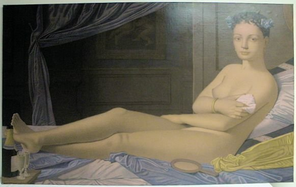 E.J. VAN STRATEN OIL ON CANVAS PAINTING: RECLINING NUDE