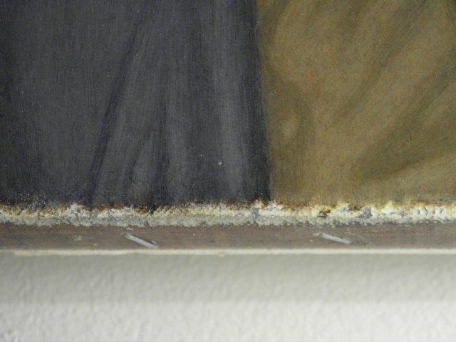 E.J. VAN STRATEN OIL ON CANVAS PAINTING: RECLINING NUDE - 7
