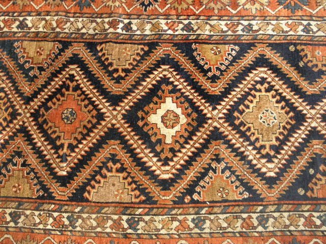 "TURKISH HAND KNOTTED AREA RUG - 9' 6.5"" x 4' 11.5"""