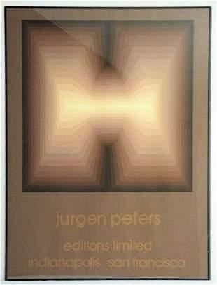 OP ART - JURGEN PETERS LIMITED EDITION SILKSCREEN POSTE