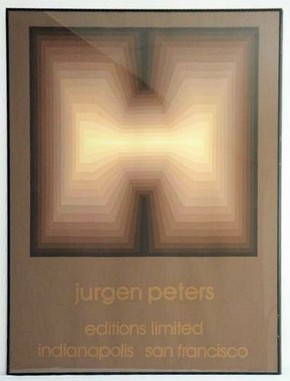 OP ART - JURGEN PETERS LIMITED EDITION SILKSCREEN POSTE