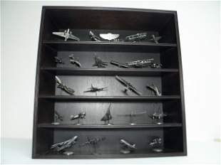 """FRANKLIN MINT """"WORLDS GREATEST AIRCRAFT"""" PEWTER SET"""