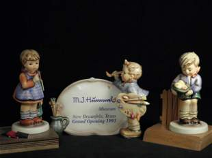 THREE HUMMEL FIGURINES: I WONDER, GIFT FROM A FRIEND, E
