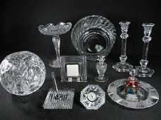 ASSORTED CONTINENTAL GLASSWARE: WATERFORD, ETC. 11 PCS