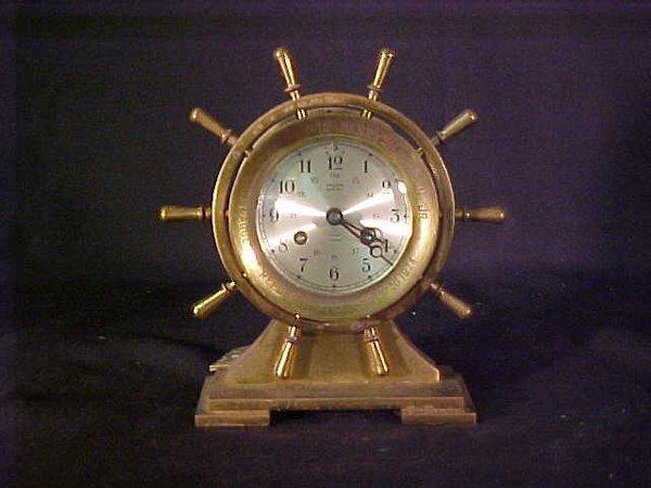 2: SALEM SHIPS BELL CLOCK BRASS ENGRAVED