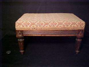 ANTIQUE TAPESTRY FOOT STOOL MINIATURE