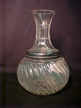 EARLY AMERICAN PATTERN GLASS DECANTER