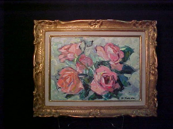 9: PAINTING CANVAS ROSES ROSE MALCOLM UGE